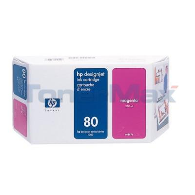 HP DESIGNJET 1050C NO 80 INK MAGENTA 350ML